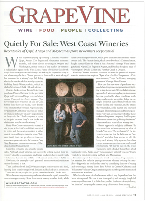 West Coast Wineries for sale